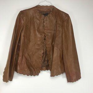 Isabel Studded Leather Jacket Sz XL